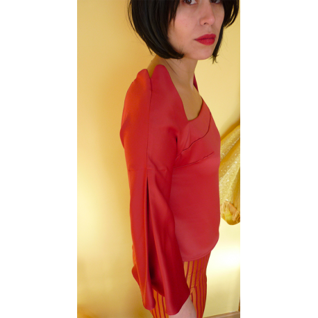 Burn Red Blouse