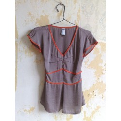 RED LINE BLOUSE ORO
